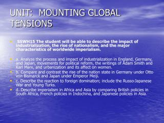 UNIT:  MOUNTING GLOBAL TENSIONS
