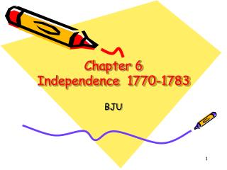 Chapter 6 Independence  1770-1783