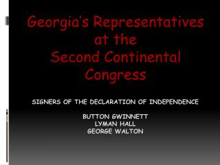 Signers of the Declaration of Independence Button Gwinnett lyman  hall George Walton