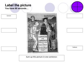 Label the picture You have 60 seconds…