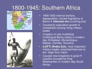 1800-1945: Southern Africa
