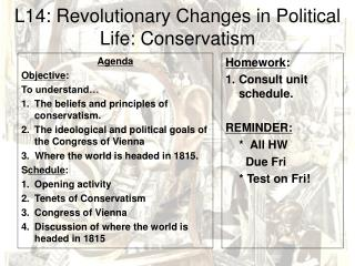 L14: Revolutionary Changes in Political Life: Conservatism