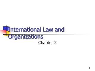 International Law and Organizations