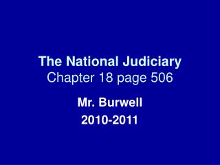 The National Judiciary Chapter 18 page 506