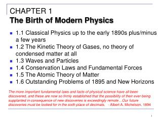CHAPTER 1 The Birth of Modern Physics
