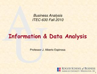 Business Analysis ITEC-630 Fall 2010