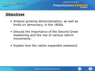 Analyze growing democratization, as well as limits on democracy, in the 1800s.