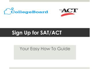 Sign Up for SAT/ACT
