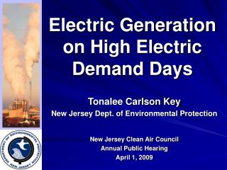 Electric Generation on High Electric Demand Days