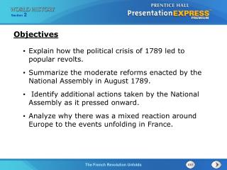 Explain how the political crisis of 1789 led to popular revolts.
