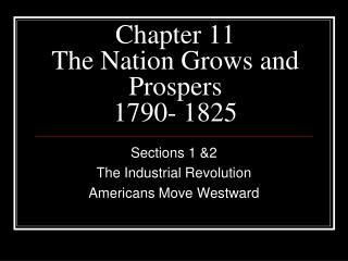 Chapter 11 The Nation Grows and Prospers 1790- 1825