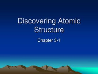 Discovering Atomic Structure