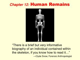 Chapter 12: Human Remains