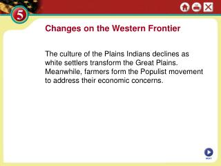Changes on the Western Frontier