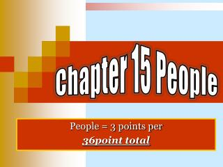 People = 3 points per 36point total
