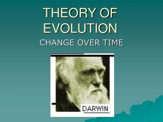 THEORY OF EVOLUTION