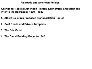 Railroads and American Politics