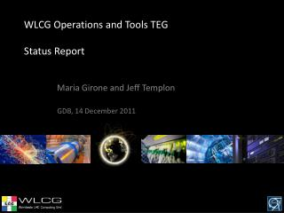 WLCG Operations and Tools TEG  Status Report