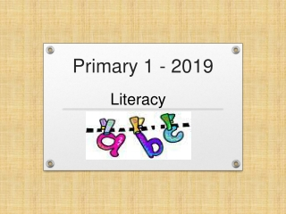 Primary literacy and using books in the curriculum