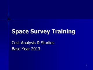 Space Survey Training