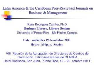 Latin America & the Caribbean Peer-Reviewed Journals on Business & Management