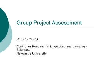 Group Project Assessment