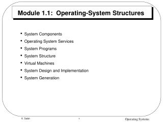 Module 1.1:  Operating-System Structures