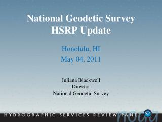 National Geodetic Survey HSRP Update