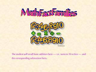 Math Fact Families