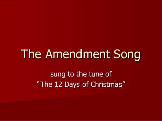 The Amendment Song