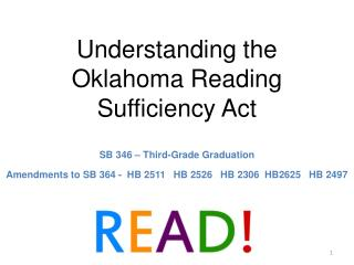 Understanding the Oklahoma Reading Sufficiency Act