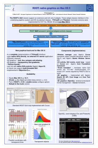 For more information see: root.cern.ch