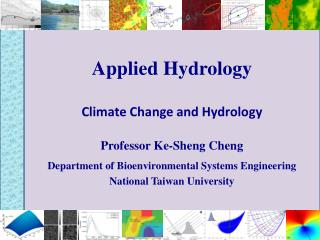 Applied Hydrology Climate Change and Hydrology