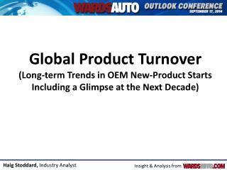 Forecast Global Product Turnover