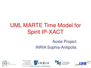UML MARTE Time Model for Spirit IP-XACT