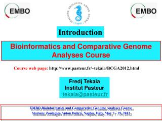 Bioinformatics and Comparative Genome Analyses Course