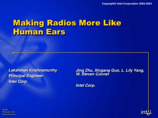 Making Radios More Like Human Ears