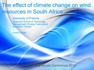 The effect of climate change on wind resources in South Africa