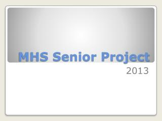 MHS Senior Project