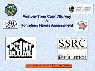 Point-in-Time Count/Survey & Homeless Needs Assessment