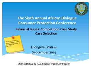 The Sixth Annual African Dialogue  Consumer Protection Conference