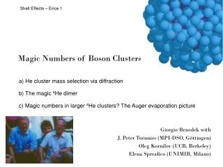 Magic Numbers of Boson Clusters