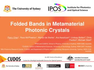 Folded Bands in Metamaterial Photonic Crystals