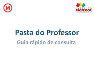Pasta do Professor