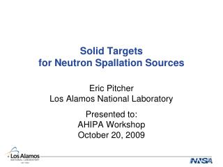 Solid Targets for Neutron Spallation Sources