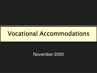 Vocational Accommodations