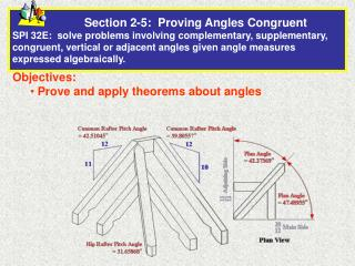 Objectives:  Prove and apply theorems about angles