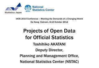 Projects of Open Data for Official Statistics