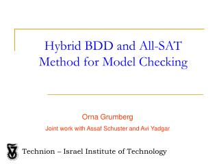 Hybrid BDD and All-SAT Method for Model Checking