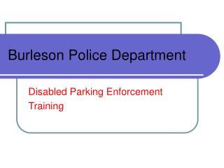Burleson Police Department